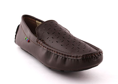 ALESTINO Loafers Shoes for Men Leather Shoes LD01 (43 UK) Brown image - Kerala Online Shopping