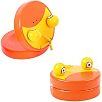 Bigjigs Toys Colourful Duck Castanets (One Pair) - Musical and Noisy Toys