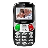 Teléfono Móvil para Personas Mayores con Teclas Extra Grandes Celular con SOS Botones by YINGTAI T47 2G (Negro)