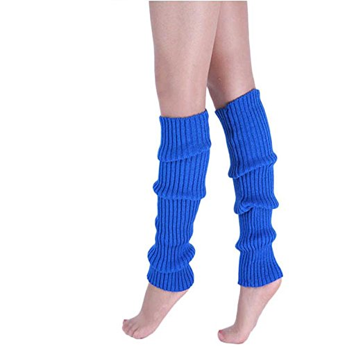 chuangli Baumwolle Stulpen Damen Fashion Winter Candy Farbe Knit Socken lang, acryl, dunkelblau, Einheitsgröße (Damen-socken Acryl)