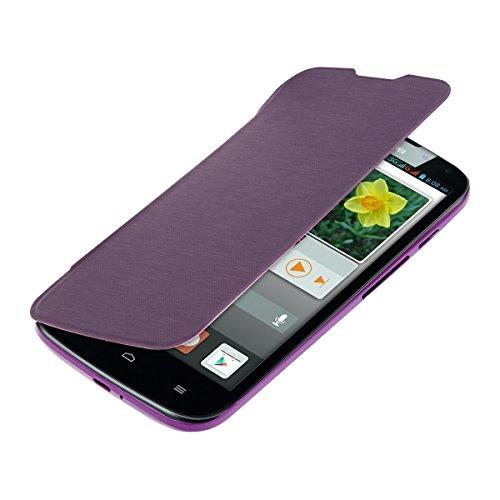 kwmobile Flip Case Hülle für Huawei Ascend G610 - Aufklappbare Schutzhülle Tasche im Flip Cover Style in Violett