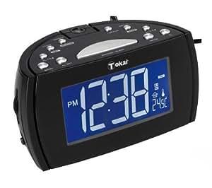 Toka lre162k radio r veil avec projecteur tuner fm am noir tv vid o - Reveil avec projecteur plafond ...