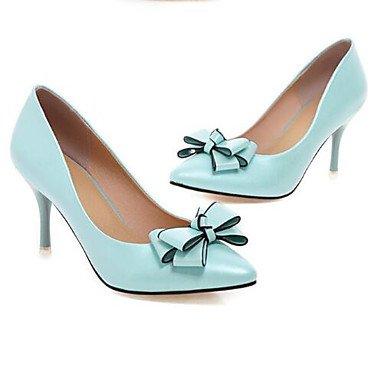 Rtry Mujeres Comfort Pu Talones Spring Almond Casual Blushing Rosa Beige Azul 4a-4 3 / 4en Us5.5 / Eu36 / Uk3.5 / Cn35