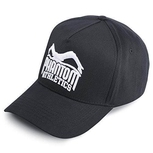 Phantom Athletics Cap Team | Kappe für Outdoor Sport, Crossfit, Training | Unisex Einheitsgröße in Schwarz mit Verschluss (Fitness-studio-baseball-cap)