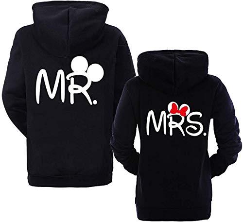 Couple Partner Hoodie Pullover Mr Mister Mrs Misses für 2