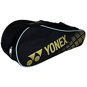 Yonex SUNR 1825 Aluminum Blend Double Compartment Badminton Kitbag (Black)