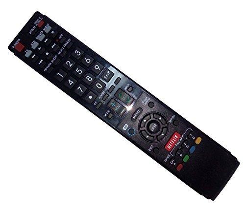 ersetzt Fernbedienung kompatibel für Sharp lc-60le657u ga936wjsa lc-60C6400u lc46le830u lc52le810lc-52le920u lc-42le540u AQUOS LED LCD HD TV mit Netflix 3D-Taste (60 Aquos Sharp Remote)