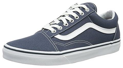 Vans Men UA Old Skool Low-Top Sneakers, Blue (Canvas Dark Slate/True White), 10 UK 44 1/2 EU