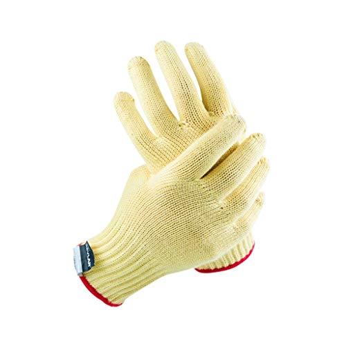 NJ Handschuh- Verdickte Schnittschutzhandschuhe der Klasse 3 (Farbe : Beige, größe : L:23.5cm W:8cm)