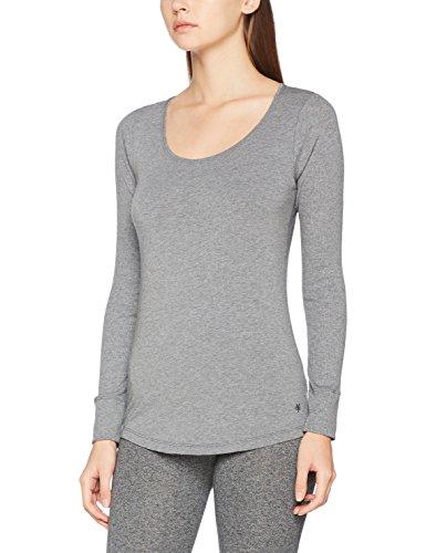 Marc O'Polo Body & Beach Damen Shirt LS' Unterhemd, Grau-Mel. 202, 36 (Herstellergröße: S) - T-shirts Cotton Rib-tank
