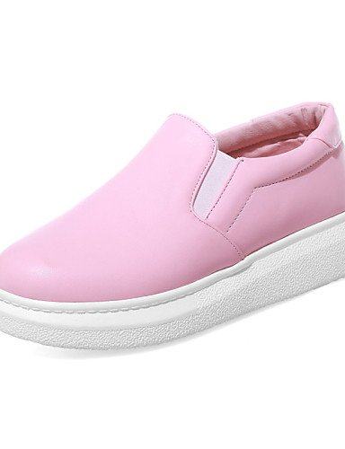 ZQ gyht Scarpe Donna-Mocassini-Tempo libero / Formale / Casual-Plateau / Creepers / Punta arrotondata-Plateau-Finta pelle-Rosa / Bianco , pink-us10.5 / eu42 / uk8.5 / cn43 , pink-us10.5 / eu42 / uk8.5 pink-us6.5-7 / eu37 / uk4.5-5 / cn37