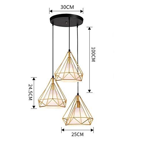 Colgante Lámpara Lámpara forma diamante lámpara