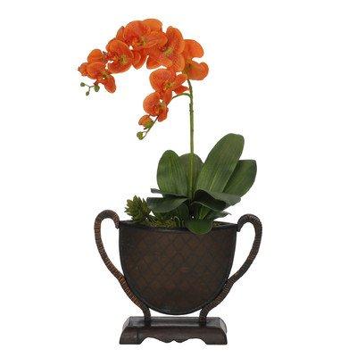 Artificiali di orchidea Phalaenopsis, doppio stelo in vaso