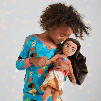 Moana Soft Toy Puppe ist ein hübsches gesticktes Gesicht und eine funkelnde Schalenhalskette