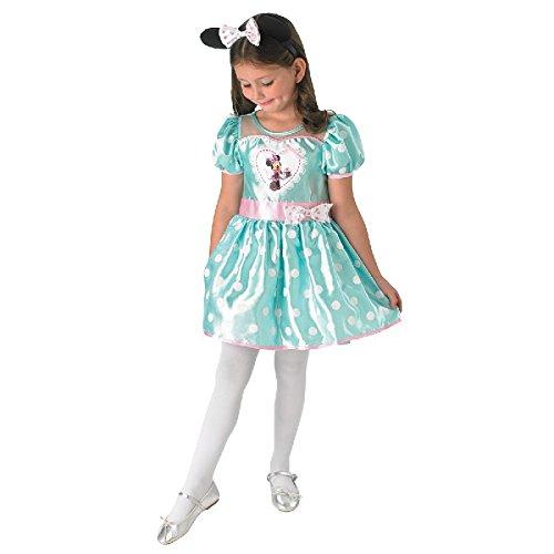Disney Kinder Kostüm Cupcake Minnie Maus in mint mit Haarrreif ()