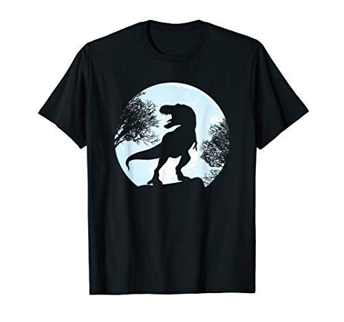 T Rex Mond T-Shirt Dinosaurier Vollmond Dino - Entdecker Kostüm Frauen