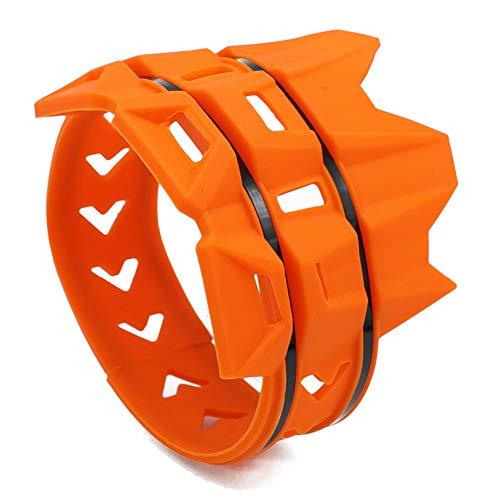 Cikuso Cubierta Silenciador Anillo Anti-Plancha de Moto Cubierta Protectora Anillo Aislante Adecuado para Todoterreno Buggy Piezas (Naranja)