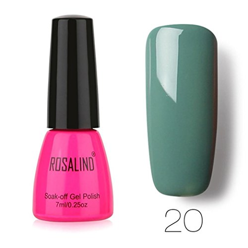 (Pure Farben mit UV-LED Gel Nail Art Maniküre Gel Lack salon- Candy Farbe Glitter Gel Soak-Off-Gel, Nagellack, 8ml + + + + Rubin mit Lavendel: Candy rot glanz Smaragd Glanz, Lila)