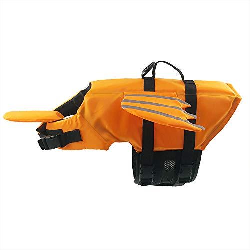BLEVET Haustier Schwimmweste Hund Lebensretter Pet Floatation Weste Sicherheit Life Saver Sicherheit Badeanzug Erhalter MZ085 (L, Orange) -