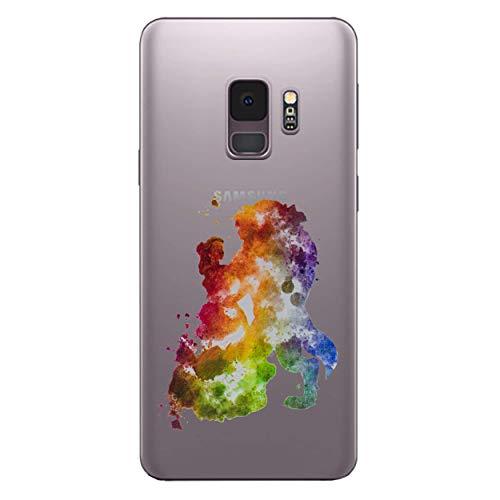 I-CHOOSE LIMITED Fan Art Case Handyhülle für Samsung Galaxy S9 (G960) mit Schirmschutz/Gel/TPU/Die Schöne und Das Biest Galaxy Case Fan