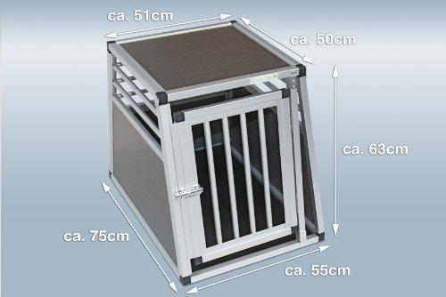 Hundebox / Alubox / Hundetransportbox / Autobox + Einlegematte Inbus-Verschraubung Größe S