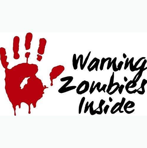 Weiche Hand Mit Tinte (Rote Hand Tinte Warnung Zombie Innenschild Auto Aufkleber Monster Autofenster Wandaufkleber Muster Vinyl Auto Aufkleber Zubehör 50x28cm)