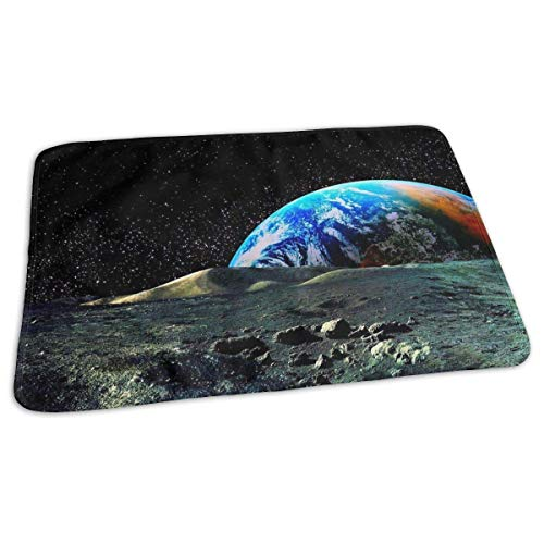 Kotdeqay Baby Changing Pad Liners Trippy Space Earth HD Daily Use Diaper Changing Pad Mats Portable Pad 25.5x31.5 Inches