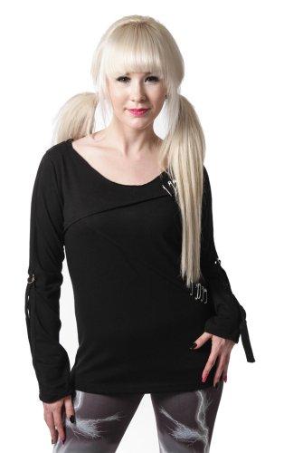 Vixxsin -  Maglia a manica lunga  - Donna nero Large