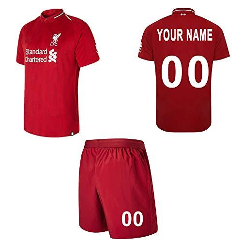 WFhome Personalisierte Liverpool Home Football Shirt Benutzerdefinierte Fußball Trikots mit Team Name Player Namen und Zahlen