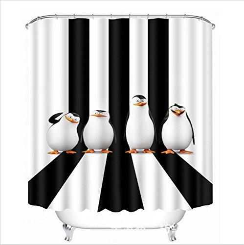 hvorhang Antarktische Pinguine,schwarze und weiße Streifen 71