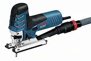 Bosch Professional Stichsäge GST 150 CE (Sägeblatt, Abdeckhaube, Absaug-Set, Spanreißschutz, Koffer, Schnitttiefe in Holz: 150 mm, 780 Watt)