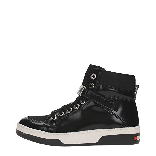 Love Moschino Logo Hi Top Donna Sneaker Nero