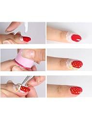 YAKO 10ml Nagel Cremes abziehen Decklack Nagellackentferner Anti-Überlauf-Kleber