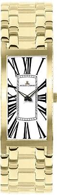 JACQUES LEMANS Venice 1-1572E - Reloj de mujer de cuarzo, correa de acero inoxidable color oro de JACQUES LEMANS