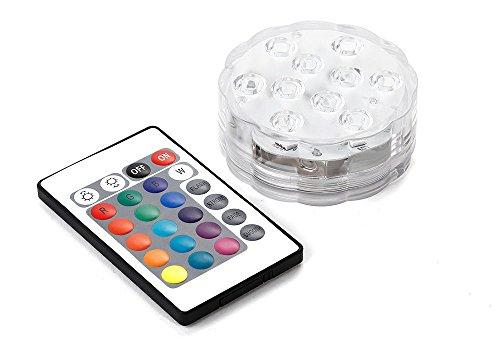 Preisvergleich Produktbild LED Wasserdicht Tauchfähig RGB Hochzeit Party Base Xams Light, mit Fernbedienung