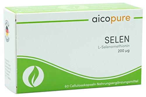 SELEN 200 µg • L-Selenomethionin • optimierte Bioverfügbarkeit • vegan • Kapseln • Made in Germany (60 Kapseln)
