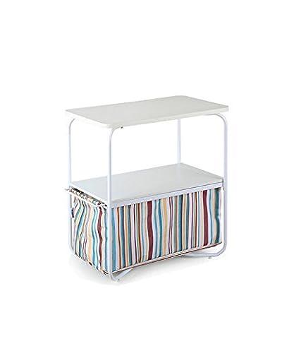 Couchtisch Ecktisch Regale Modern Einfache Mode Drei Ebenen Rechteck Kleine Couchtisch Sofa Beistelltisch Telefon Round Table (7 Farben erhältlich) ( Farbe : C , größe : 50*30*53cm )