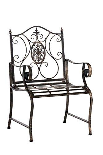 Schmuckstück für den Garten oder Wintergarten, Metallstuhl antikes Design bronzefarben mit...