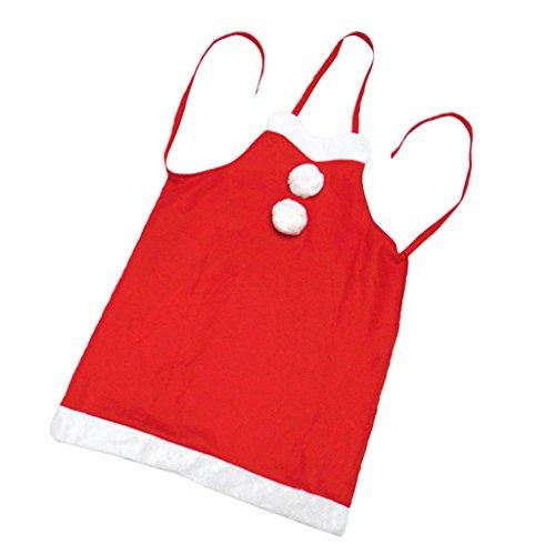 ten Santa Schürze Rot Bib Kellnerin Kostüm Weihnachtsgeschenk (Männer Bib Schürzen)