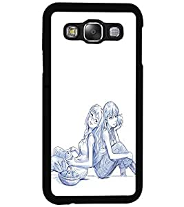 PRINTSWAG LOVE COUPLE Designer Back Cover Case for SAMSUNG GALAXY E5