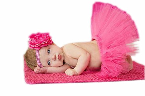 Da.Wa 1-3 Monate Baby-Foto-Stütze-Kostüm-Ausstattungs-Kopfschmuck + Rock,1 Satz