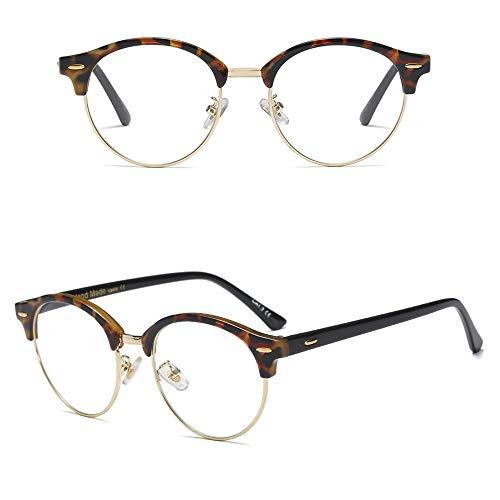 Junjiagao Unisex- persönlichkeit Nicht verschreibungspflichtige Brille Brillen klare linse, Trend Sonnenbrille Ultra leicht (Farbe : Amber/Clear)