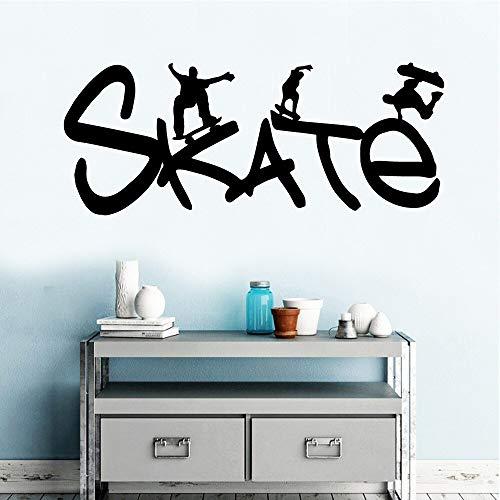 Ajcwhml Rimovibile Moderno Skateboard Pittura murale Adesivo Camera dei Bambini Decorazione della Parete Decorazione della cas