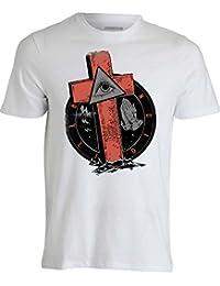Illuminati Religion blanc T shirt