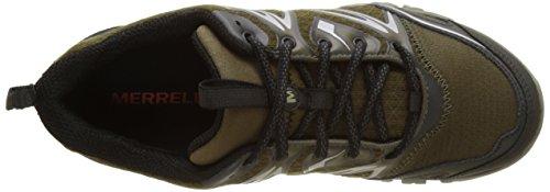 Merrell Capra Bolt Gore-Tex, Chaussures de Randonnée Basses Homme, Noir, 41 EU Multicolore (Dark Olive)