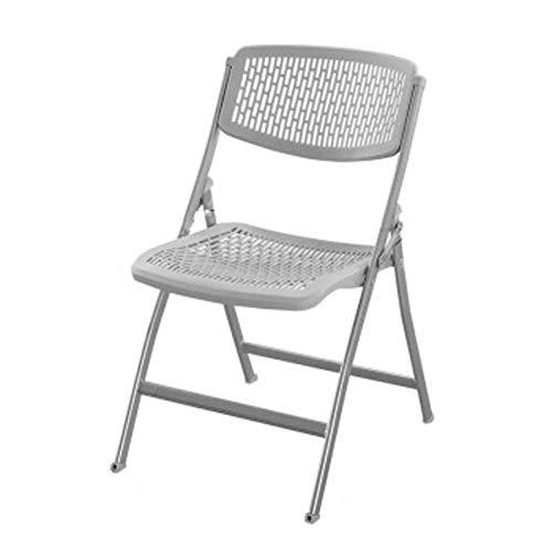 WFchairs Hohlklappstuhl, Trainings-Rückenlehnenhocker Für Zuhause/Schüler/Computer/Büro/Konferenz Grau 52,5 X 48,5 X 83 cm Hocker (Color : Gray, Size : 52.8x48.5x83CM) - Konferenz-büro-stuhl