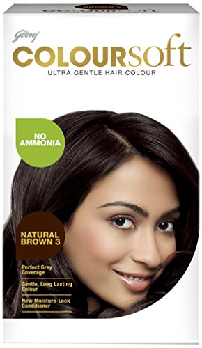Godrej Coloursoft Crème Hair Colour, Natural Brown, 80ml + 24g