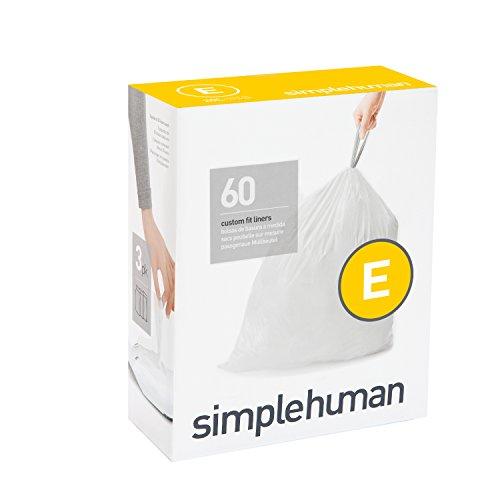 simplehuman-code-e-plastic-custom-fit-bin-liner-pack-of-60-white