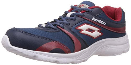 Lotto Men's Pacer Navy and Red Mesh Running Shoes – 9 UK/India (43 EU) 41r3y47i2jL