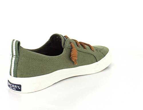Sperry Crest Vibe Wash Linen White, Sneaker Donna Olive